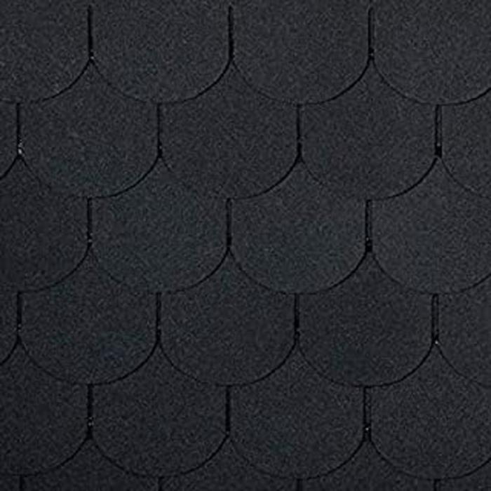 Bardeaux Bitumineux, Queue En Castor Noir, 21 Pièces (Pour Surface De Toit De 3 M²), Bardeaux Bitumés