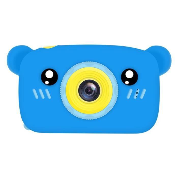 Appareil photo enfant,Mignon ours électronique appareil photo numérique jouets pour enfants cadeaux - Type No TF Card #D