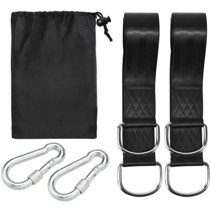 HAMAC 1 paire de fixation Kit pour hamac Suspension pour hamac balancelle Fauteuil suspendu Siegravege avec 2 mousquetons Charge413