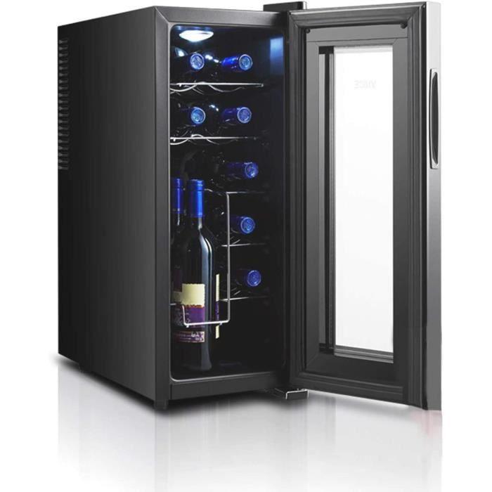 MINGDIAN Réfrigérateur à vin 12 Bouteilles - Réfrigérateur à vin Blanc et Rouge Refroidisseur à vin de comptoir - Mini réfrigéra157