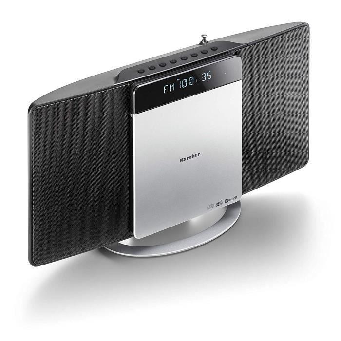 Karcher MC 6580D Chaîne compacte avec Lecteur CD - Système stéréo Vertical, Bluetooth et réveil - Radio FM & Dab - Lecteur MP3 Vi