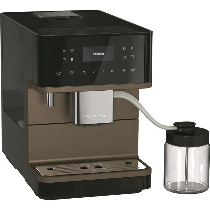 MIELE CM 6360 MilkPerfection NR BronzePearlFinish - Expresso broyeur automatique - couleur Noir obsidien finition Bronze