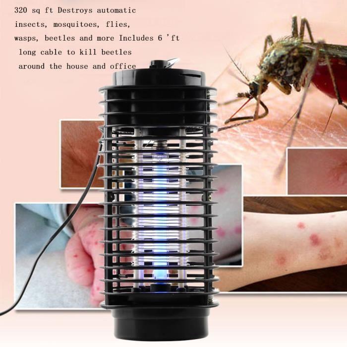Lampe Anti Moustique Anti Mouche Imperméable Fly Insecte Zapper Lampe pour Extérieur Intérieur 220V