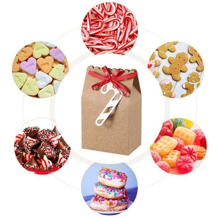 6 Pcs Bonbons Boîtes Utiles Portable Épaissir Papier D'emballage Conteneurs Cadeaux pour Biscuits CONFISERIE DE SUCRE - BONBON