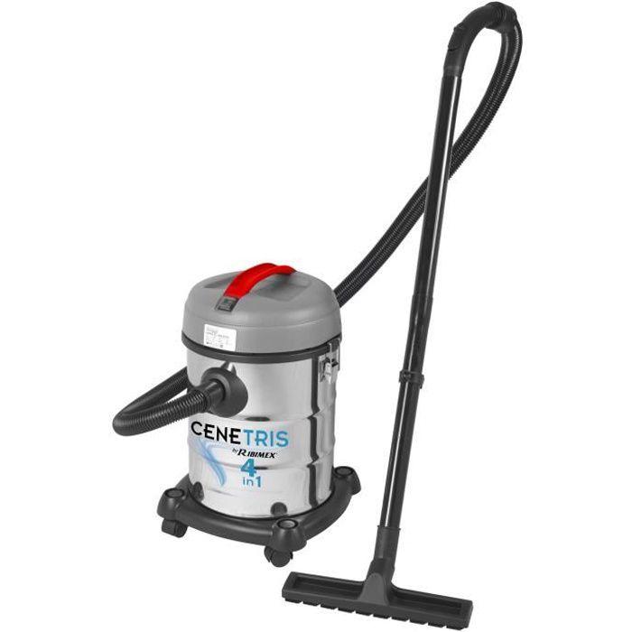 Aspirateur industriel eau poussière et cendre de cheminée 4 en 1