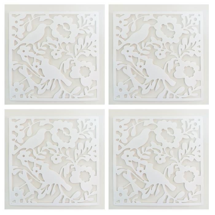 TD® Lot de Paravents à motif florale papillon décoration intérieur extérieur grand événements décoration design moderne et tendance
