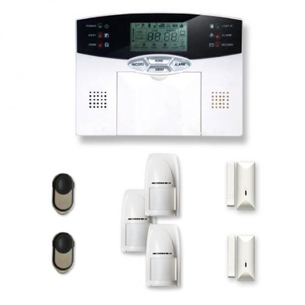 Alarme maison sans fil 2 à 3 pièces MN mouvement et intrusion - Compatible Box Internet