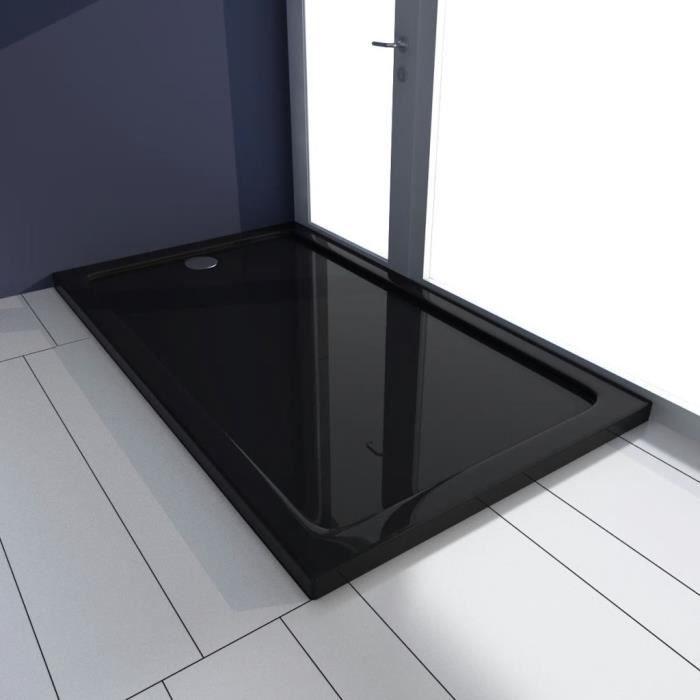 Receveur de douche ABS rectangulaire noir