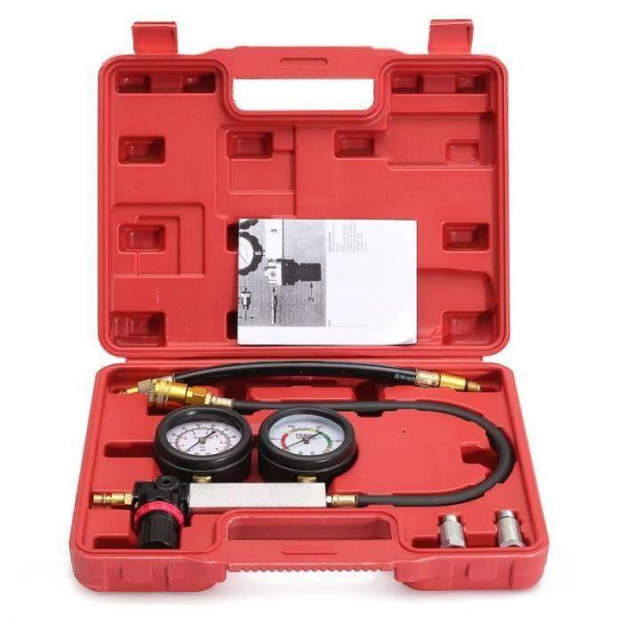 QQ34687-Cylindre Détecteur de Fuite Testeur Moteur Essence Voiture Garage Outil Kit