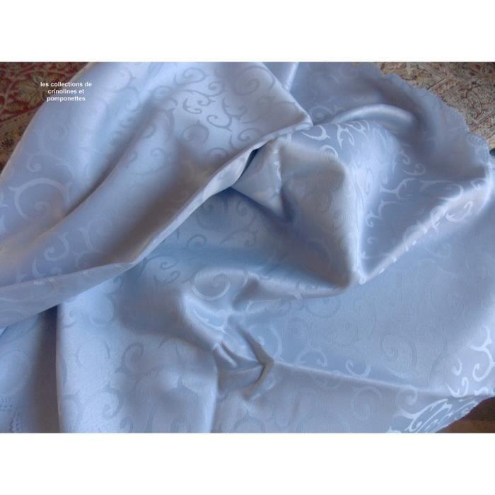 Tableau plafond damassé Polyester Nappe Bleu 180x180cm rectangulaire
