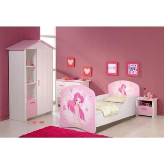 lit enfant fille princesse achat vente lit enfant fille princesse pas cher cdiscount. Black Bedroom Furniture Sets. Home Design Ideas