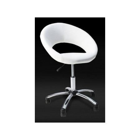 fauteuil roulette lolita blanc achat vente fauteuil pu m tal cdiscount. Black Bedroom Furniture Sets. Home Design Ideas
