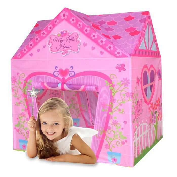 bentley kids tente de jeu my little house enfant rose achat vente tente tunnel d. Black Bedroom Furniture Sets. Home Design Ideas