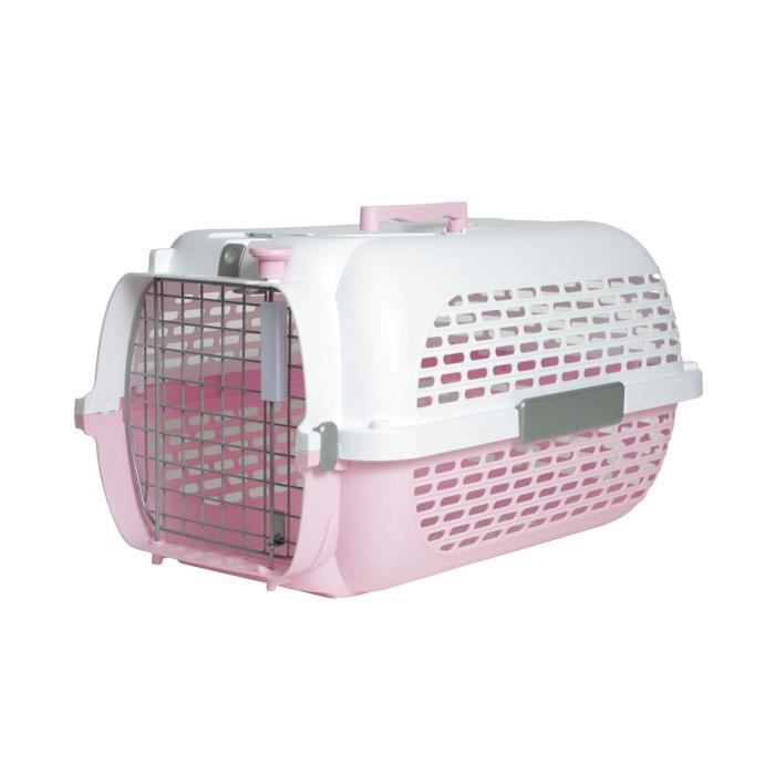 pet voyager cage chat rose 49x32x30cm taille 1 achat vente caisse de transport caisse de. Black Bedroom Furniture Sets. Home Design Ideas