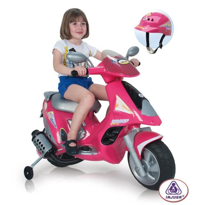 injusa scooter electrique enfant duo 6 volts achat vente moto scooter cdiscount. Black Bedroom Furniture Sets. Home Design Ideas