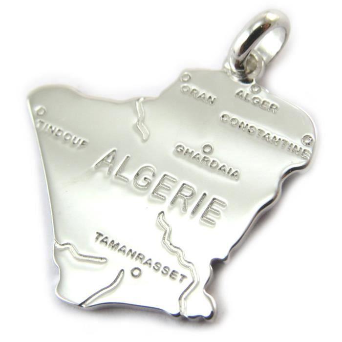 CHAÎNE G 50 cm PENDENTIF ALGÉRIE en ARGENT NEUF