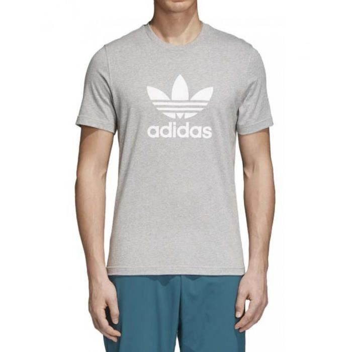 t shirt adidas trefoil homme