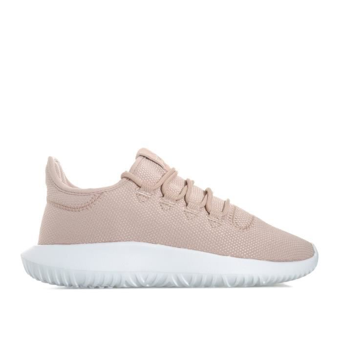 Baskets adidas Original Tubular Shadow pour fille en rose.
