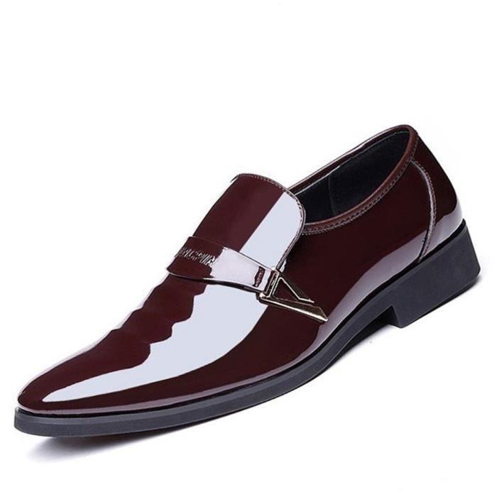S Chaussures Homme Ville Cuir Élégantes Italien De Sans Lacets Designer Vernies Derby Habillées Daim Brillantes Yfg7bv6y
