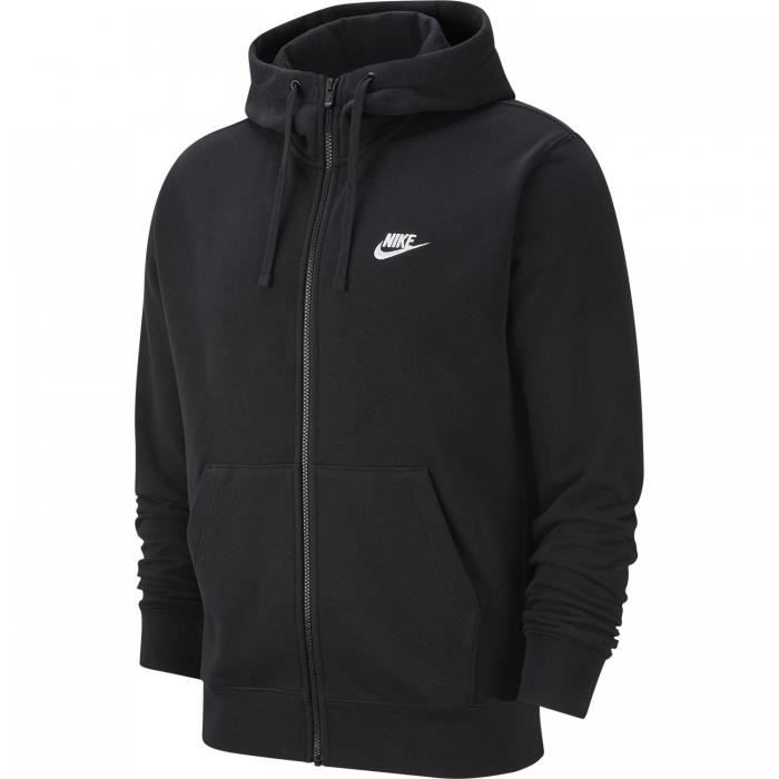 Nike - Sweat à capuche zippé Club FT - BV2