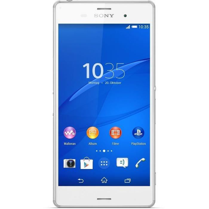 sony xperia z3 double sim blanc achat t l phone portable. Black Bedroom Furniture Sets. Home Design Ideas