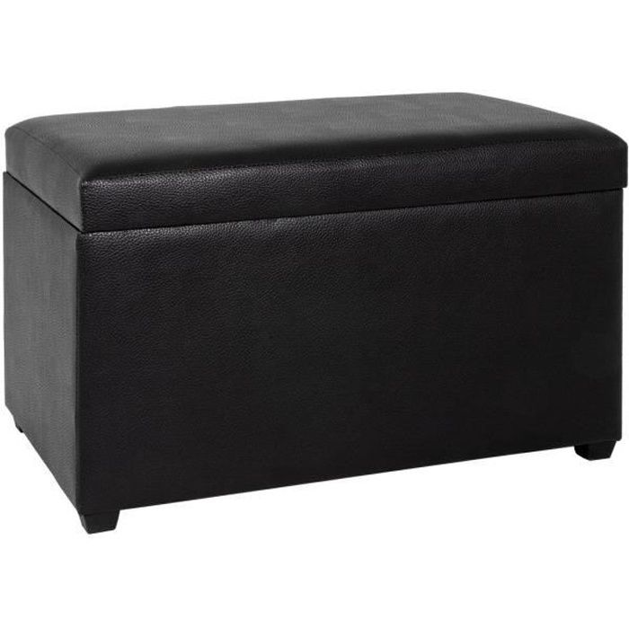 banc coffre de rangement noir 65 cm coffre de rangement. Black Bedroom Furniture Sets. Home Design Ideas
