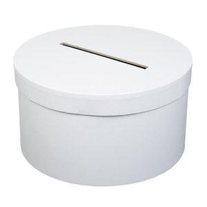 Urne décorative Urne tirelire ronde blanche 25cm
