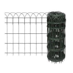 CLÔTURE - GRILLAGE Bordure de pelouse Fer enduit de poudre 25x0,65 m-
