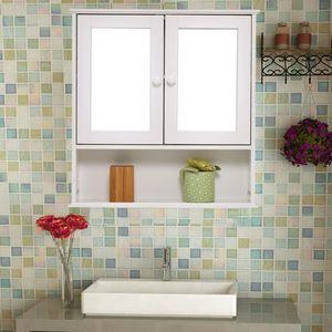COLONNE - ARMOIRE WC  Meuble Mural de Salle de Bain Armoire de Toilette