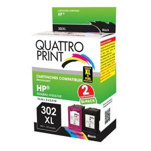 CARTOUCHE IMPRIMANTE Pack 2 cartouches compatibles 302XL