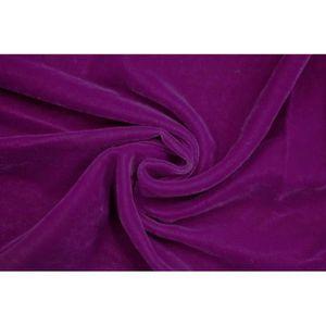 TISSU Tissu Velours Velvet Uni Violet clair -Au Mètre