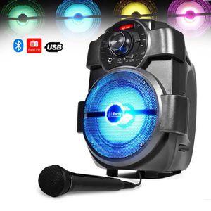 ENCEINTE NOMADE Enceinte Karaoke Mobile sur batterie 180W à Leds -