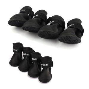 PROTECTION DES PATTES 4 pieces de bottes de pluie pour chien chaussures