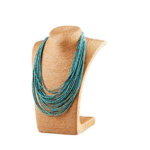 SAUTOIR ET COLLIER Style bohème Six couleurs 20-Story Collier perlés