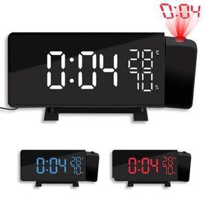 Radio réveil FM Radio Réveil à Projection,Horloge Deux Alarmes