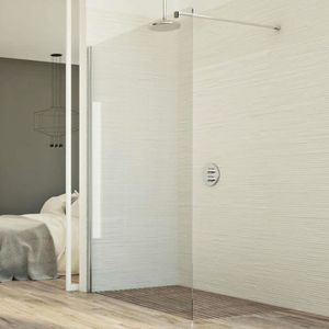 BuyLando en verre transparent salle de bain. Paroi libre de douche Lily 150x200 cm // 10 mm ESG verre de s/écurit/é