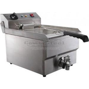 Generic Friteuse /électrique en acier inoxydable avec robinet de vidange et accessoires 10 l