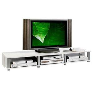 MEUBLE TV Meuble TV bas KIMI 3 compartimenst ouverts décor b