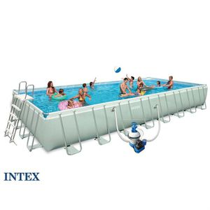 Piscine rectangulaire intex achat vente piscine for Piscine intex 4 88 x 1 32