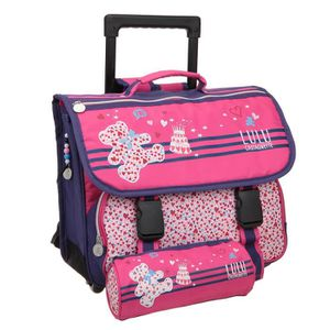 CARTABLE LULU CASTAGNETTE Lot 1 trousse + 1 cartable roulet