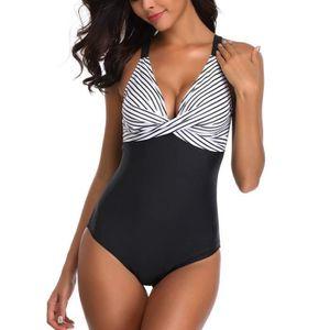 MAILLOT DE BAIN Femme Maillot de Bain Sexy T Siamois Bikini Set Pu