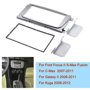 Installation Cadre Set DOUBLE DIN Autoradio Ford Fusion FOCUS FIESTA ARGENT 2004-2013