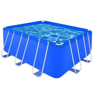 PISCINE Piscine rectangulaire avec cadre en acier 400 x 20