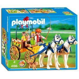 UNIVERS MINIATURE Playmobil - 4186 - Caleche  Et  Chevaux