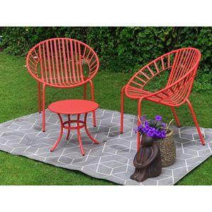 Salon de jardin rouge - Achat / Vente Salon de jardin rouge ...