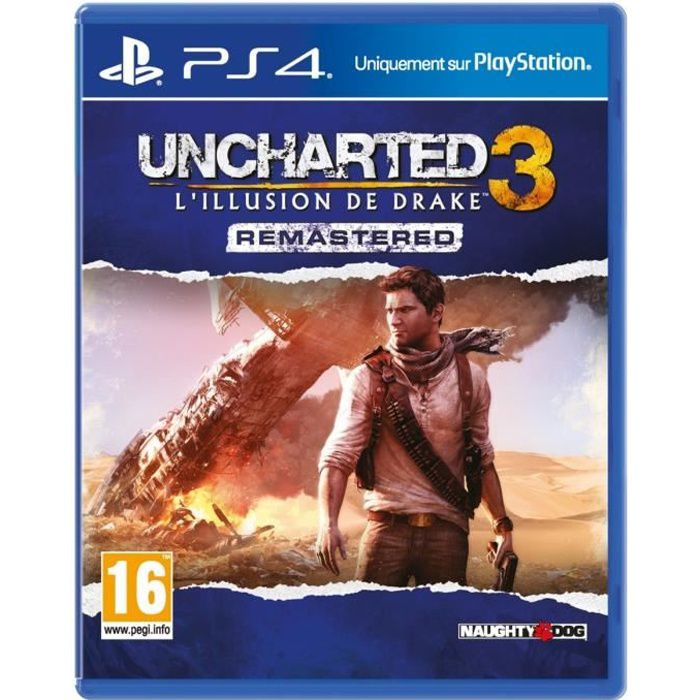 uncharted 3 drake 39 s deception remastered jeu ps4 achat vente jeu ps4 nouveaut uncharted 3. Black Bedroom Furniture Sets. Home Design Ideas