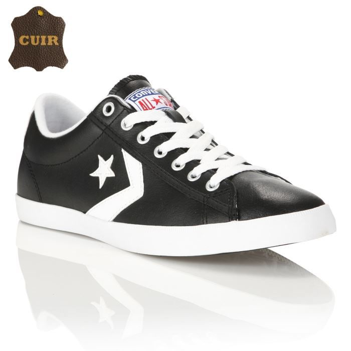 converse baskets cuir star player lp homme homme noir achat vente converse baskets star. Black Bedroom Furniture Sets. Home Design Ideas