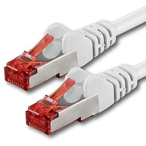 30m Blanc 1 pièce CAT6 Câble Ethernet Câble Réseau RJ45 10-100 - 1000 Mo-s câble de Patch LAN Câble -Cat 6 S-FTP PIMF 250 MH