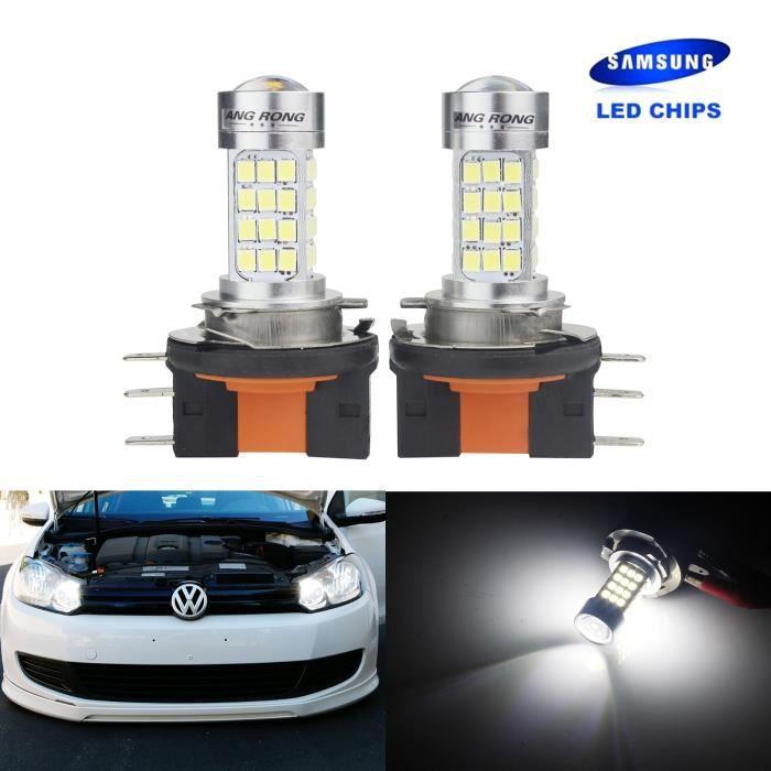 2x H15 LED Ampoules 45W Feux Anti Brouillard Lampen Pour VW Amarok Caddy Golf Tiguan
