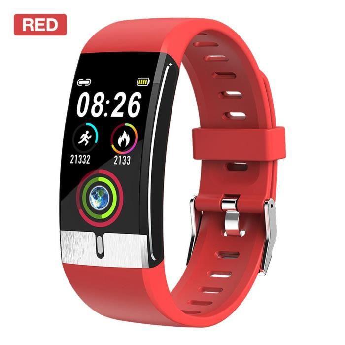 Montre connectée,E66 montre intelligente multi sport montre Bracelet USB charge avec surveillance de la température - Type Blue